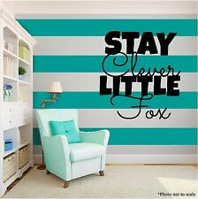 LITTLE FOX kids LoveVinyl Wall Art quote Home Decor Decal Words Phrases Black