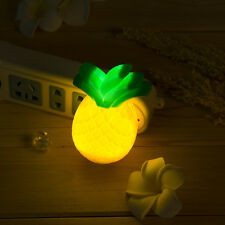 Cute Pineapple-shaped LED Night Light Wall Lamp Home Bedroom Decoration