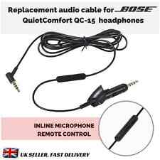 Replacement Audio Cable for BOSE Headphones QC2 - QC15 inline microphone remote