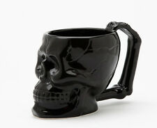 Ceramic Black Mug Skull Head Fright Kitchen Decoration Figurine Statue Halloween