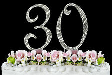 NEW Large Rhinestone  NUMBER (30) Cake Topper 30th Birthday Party Anniversary