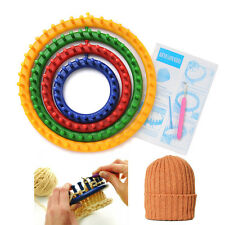 1 Set 4 Size Quality Round Circle Hat Knitter Knifty Knitting Knit Loom