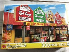 """Puzzlebug Fast Food Stalls"""" 300 Pc. Puzzle Complete"""