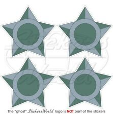 """BRAZIL Brazilian AirForce LowVis green Roundels Stickers, Decals 50mm (2"""") x4"""