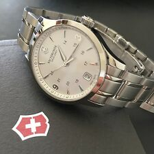Victorinox Swiss Army Womens Alliance Small Silver Tone Watch w/ Date 241539 NWT