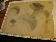 MARGE O'CONNELL drawing: charcoal: DOUBLE SIDED SHAPES and BLACK