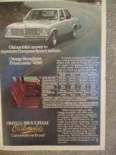 VINTAGE 1976 OLDS OMEGA BROUGHAM AD-NOT A REPRODUCTION