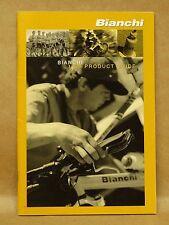 Vtg 1996 Bianchi Bicycle Brochure Guide Mountain Road Bike Racing Frame Service