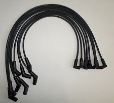 BBC CHEVY 396-427-454 BLACK 8mm HEI Spiral Core SPARK PLUG WIRES 45 DEGREE ENDS