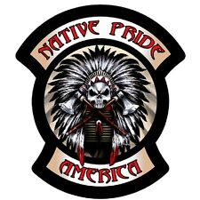 NATIVE PRIDE AMERICA USA ROCKERS MOTORCYCLE BIKER LEATHER PATCH