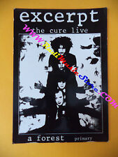 CARTOLINA PROMOZIONALE POSTCARD THE CURE Excerpt 10x15 cm no*cd dvd lp mc vhs