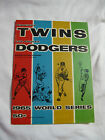 Vintage Baseball 1965 World Series Program TWINS Vs DODGERS Game 2 KOUFAX Loses