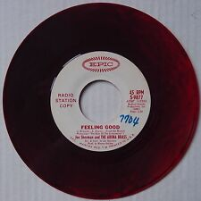 EPIC 45 PROMO colored MARBLED swirl VINYL 45 NM- JOE SHERMAN & Arena Brass RARE