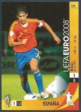 PANINI UEFA EURO 2008 TRADING CARD- #179-ESPANA-SPAIN-RAUL