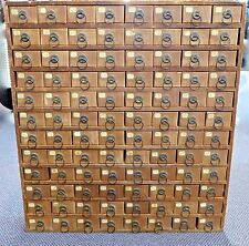 "Antique Wood-Framed 96 DRAWER Cabinet. Store Hardware,Toys,Jewelry.29"" Tall.1900"