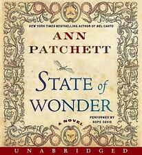 Audiobook State of Wonder A Novel By Ann Patchett 11 CDs for 12.5 Hrs Run Time