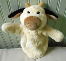 "GUND COW HAND PUPPET plush stuffed MILKSHAKE Cream Black 11"" #60152"