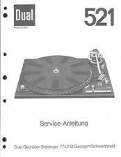 Dual Service Manual für 521