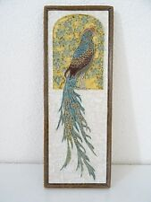 PORCELEYNE FLES DELFT CLOISONNE DUTCH TILE PEACOCK