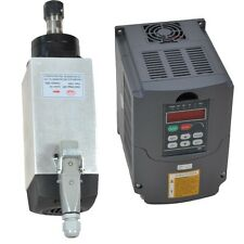 GOOD QUALITY 4KW AIR-COOLED MOTOR SPINDLE AND VFD INVERTER DRIVE FOR CNC