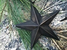 """ONE (1) 8""""~ DISTRESSED ~ BLACK BARN STAR PRIMITIVE RUSTIC COUNTRY ANTIQUE DECOR"""
