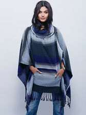 NEW FREE PEOPLE SKY DESERT  DREAM COWL PONCHO O/S