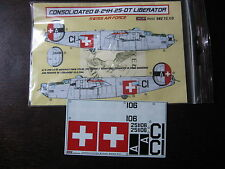 1/72 KORA DECAL LIBERATOR B24 H 106 SWISS AIR FORCE DECALCOMANIE