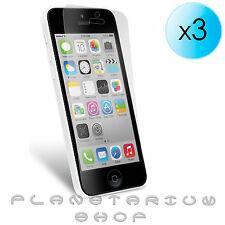 3x LAMINAS PROTECTOR DE PANTALLA ULTRA CRYSTAL CLEAR PARA IPHONE 5C 16 32 GB LCD