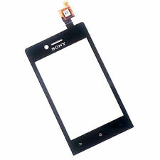 100% Genuine Sony Xperia Miro ST23i touch screen digitizer front glass lens+flex