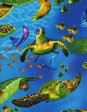 Timeless Treasures Turtles by Michael Searle Quilt Fabric C9986 By The Yard