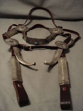 OPULENT AND IMPORTANT VINTAGE NAVAJO STERLING SILVER HORSE BRIDAL HEADSTALL