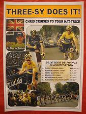 Chris Froome 2016 Tour de France winner - souvenir print