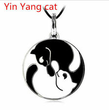 NEW  Best Friend Ying and Yang Yin Cat Pendants Necklace Friendship Gift