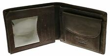 Dark Brown Leather Wallet & Credit Card Holder With Coin Storage