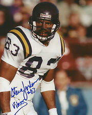 "STEVE JORDAN Autographed Signed 8"" x 10"" Photo Minnesota Vikings Football"