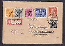 SBZ Handstempel Vierfachkombination Einschreiben 1948 Arnstadt (S12938)