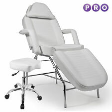 Salon Facial Bed Massage Table Chair Stool - White