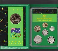 1992 Australia Proof Coin Set in Folder with outer Box & Certificate