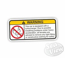 Turbocharger Car Van Stickers Decal Funny Sticker Adult Engine Turbo
