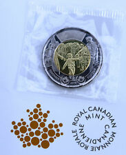 2014 Canada Two Dollar Coin Wait For Me, Daddy. Twonie Toonie in RCM Cello UNC