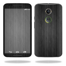 Skin Decal Wrap for Motorola Moto X (2nd Gen 2014) cover Black Wood