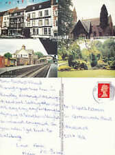 1990's MULTI VIEWS OF BEWDLEY WORCESTERSHIRE O/S COLOUR POSTCARD