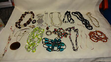 Job Lot / Collection of Quality Vintage Costume Jewellery - Beads & Brooches ETC