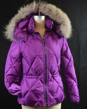 Coach Authentic Legacy Orchid XS Short Puffer Jacket Coat Fur Trimmed Hood NWT