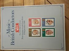 ROYAL MAIL A4 POST OFFICE POSTER 1980 MUSIC BRITISH CONDUCTORS SARGENT BEECHAM