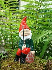 Fishing Garden Gnome ~ Humpty ~ Handmade by Pixieland (Concrete)