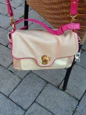 Juicy Couture Leather Small Handbag Crossbody Taupe Bone Pink