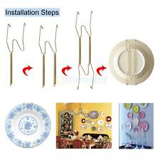 """5 Pcs 9.8""""-11"""" Invisible Plate Hanger 4-Point Metal Plate Hangers"""