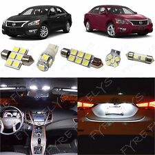 7 Piece white LED interior conversion package kit and license plate lights NA3W