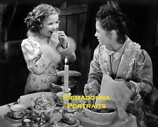 "SHIRLEY TEMPLE 8X10 Lab Photo 1939 ""LITTLE PRINCESS"" TEA SET PARTY PORTRAIT"